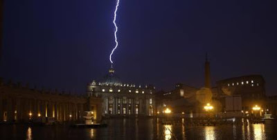The Sacred Page: Benedict XVI resigns and lightning comes down from heaven