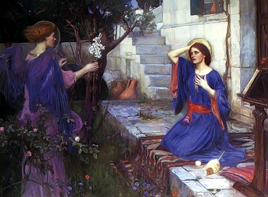 Luke1_26_Annunciation_Waterhouse